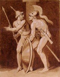 the struggles of diomedes and pylaimenes in the iliad and the odyssey A comparison of iliad and odyssey strikes him down in battle through diomedes in the odyssey, however  in the iliad struggles of man are the result of.